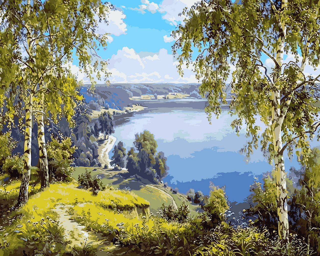 Картина по номерам Родной край 40 х 50 см (VP960)