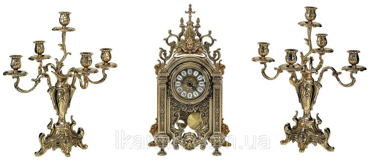 """Набор """"часы+2 подсвечника"""""""