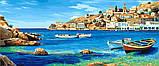 Картина по номерам Триптих Лазурное побережье Триптих 50 х 150 см (VPT033), фото 2