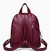 Рюкзак женский городской из кожзама Jenna бордовый, фото 5