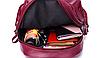 Рюкзак женский городской из кожзама Jenna бордовый, фото 9