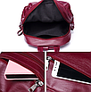 Рюкзак женский городской из кожзама Jenna бордовый, фото 10