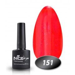 Гель-лак Nice for you № 151 (морковно-коралловый)), 8,5 мл