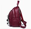 Рюкзак женский городской из кожзама Jenna бордовый, фото 6