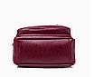 Рюкзак женский городской из кожзама Jenna бордовый, фото 8