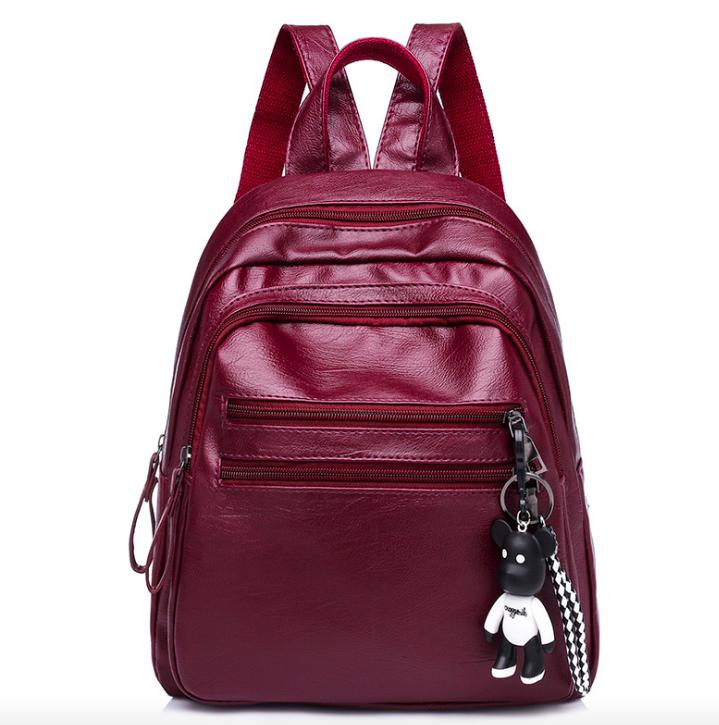 Рюкзак женский городской из кожзама Jenna бордовый