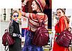 Рюкзак женский городской из кожзама Jenna бордовый, фото 3