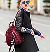 Рюкзак женский городской из кожзама Jenna бордовый, фото 4