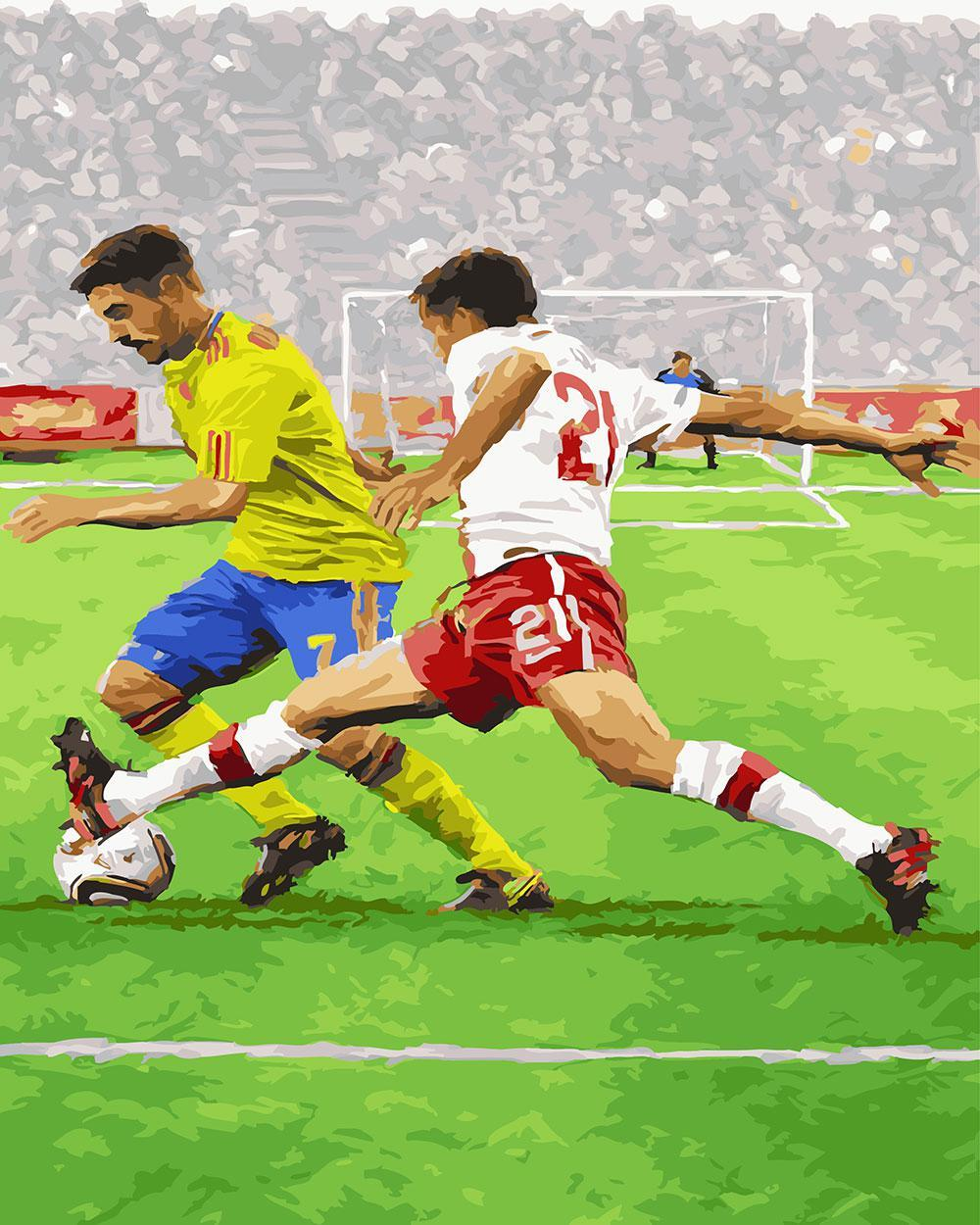 Картина по номерам Футболисты 40 х 50 см (BK-GX23643)