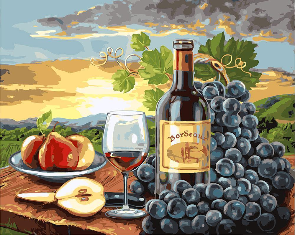 Картина по номерам Груши и вино 40 х 50 см (BK-GX24253)