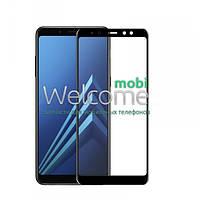 Защитное стекло Samsung A730 (2018) Galaxy A8+ Full Glue (0.3 мм, 2.5D, с олеофобным покрытием) black Самсунг А8