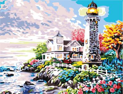 Картина по номерам Дом у маяка 40 х 50 см (BK-GX7450)