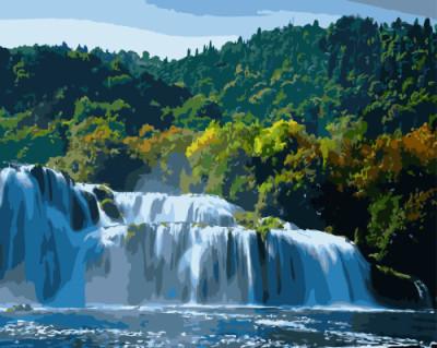 Картина по номерам Прекрасный водопад 40 х 50 см (BK-GX8808)