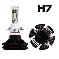 Комплект LED ламп AllLight X3 H7 50W 6000K 6000lm с радиатором и светофильтрами (3000K/8000K)