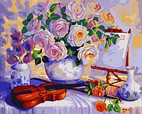 Картина по номерам Натюрморт со скрипкой 40 х 50 см (BK-G378)