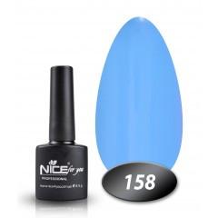 Гель-лак Nice for you № 158 (лазурный голубой), 8,5 мл