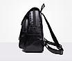 Рюкзак женский кожзам Claudia черный, фото 8