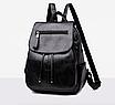 Рюкзак женский кожзам Claudia черный, фото 2