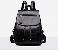 Рюкзак женский кожзам Claudia черный, фото 1