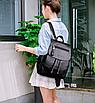 Рюкзак женский кожзам Claudia черный, фото 5