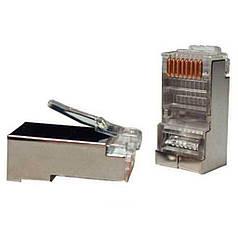 Разъем RG-45 (8p8c) Коннектор сетевой 8р8с RG-45 для кабеля FTP Наконечник ФТП Штекер 45 Поштучно!