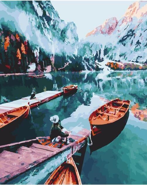 Картина по номерам Изумрудное озеро 40 х 50 см (PGX25423)