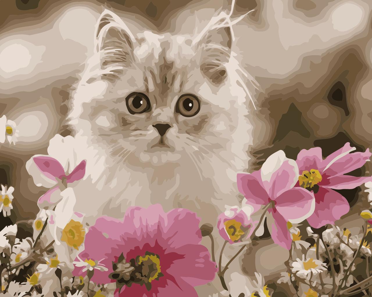 Картина по номерам Среди цветов 30 х 40 см (AS0476)