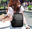 Рюкзак женский кожзам городской Be Young черный, фото 4
