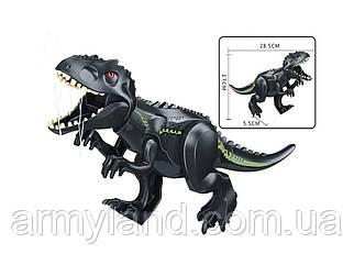Динозавр Теранозавр Рекс  черный Конструктор, аналог Лего