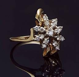Кольцо из желтого золота с бриллиантами С36Л1№10