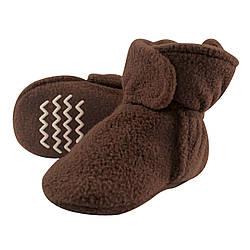 Флисовые тапочки на 2,4 года Hudson Baby (США) (коричневые)