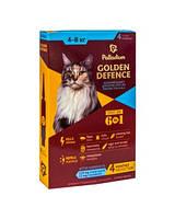 Капли на холку от блох и клещей и гельминтов Palladium Golden Defence для кошек 4-8кг * Палладиум