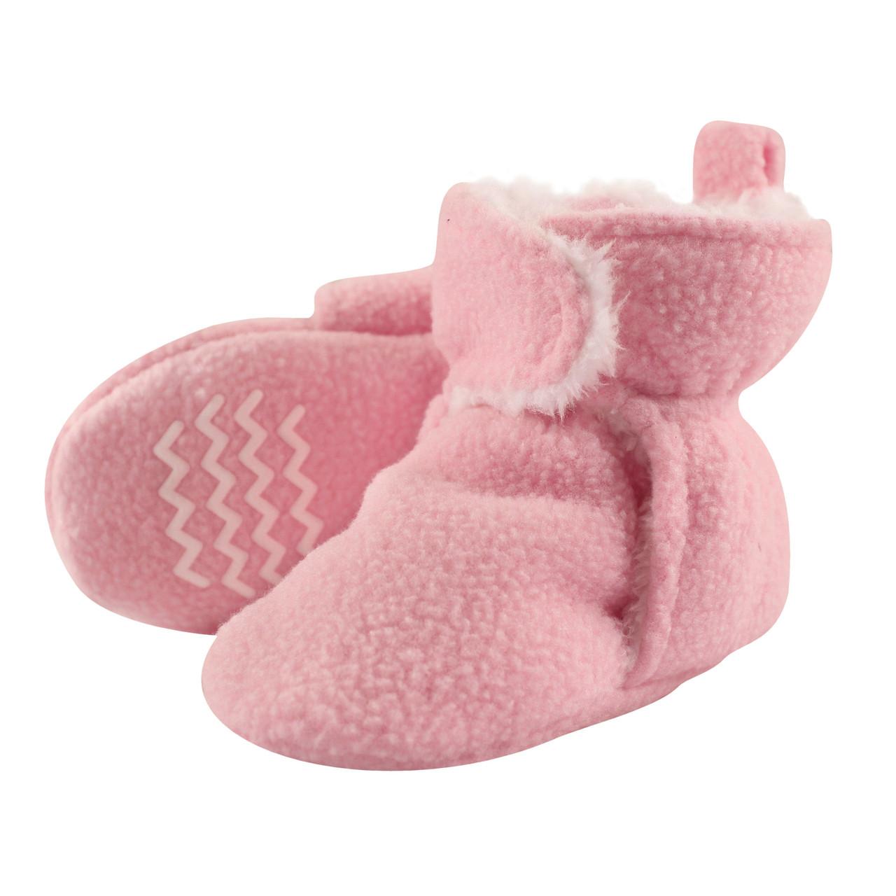 Флисовые тапочки на 3,4 года Hudson Baby (США) (розовые)
