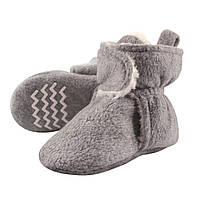 Флисовые тапочки на 3 года Hudson Baby (США) (серые)