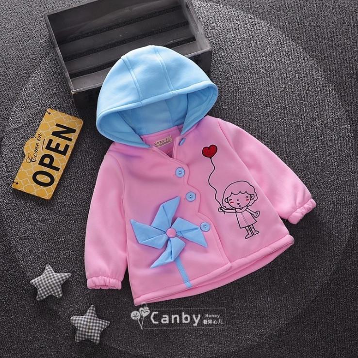 Пальто на девочку демисезонное розовое весна-осень 1-4 года