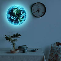 Наклейка стикер Земля 3D светящийся 30см