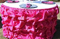Аренда банкетного текстиля, чехлы на стулья, скатерти