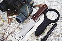 Нож нескладной Диверсант, для активного отдыха с кожаным чехлом в комплекте