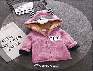 Пальто на девочку демисезонное фиолетовое весна-осень   90 размер, фото 2