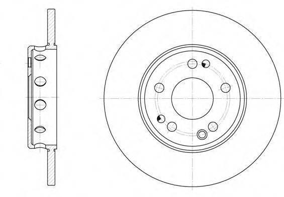 Тормозной диск передний Опель Аскона C/ Астра F/ Astra F/Opel Astra G, опель астра g/ (пр-во REMSA 6059.00)