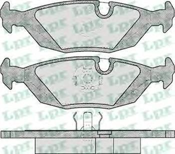 Гальмівні колодки задні БМВ 3/ 5/ 6/ 7 (пр-во LPR 05P238)