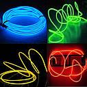 Гибкий светодиодный неон Синий Neon Glow Light Blue - 3 метра ленты на батарейках 2 AA, фото 5