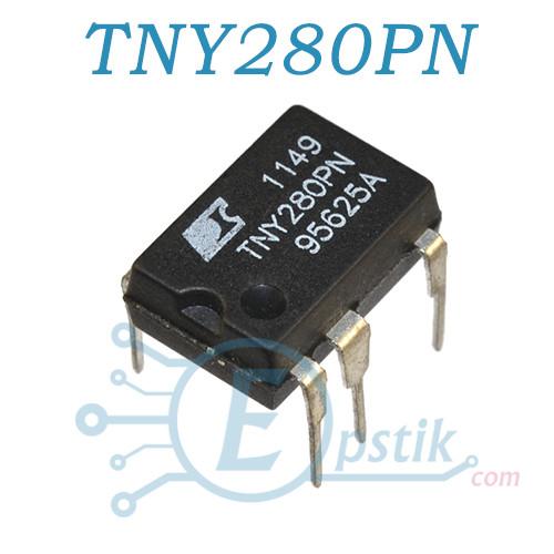 TNY280PN, AC-DC ШИМ контроллер, DIP7