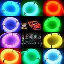 Гибкий светодиодный неон Флуоресцентный зеленый Neon Glow Light Fluorescent - 3 метра ленты на батарейках 2 AA, фото 5