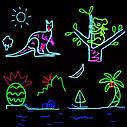 Гибкий светодиодный неон Флуоресцентный зеленый Neon Glow Light Fluorescent - 3 метра ленты на батарейках 2 AA, фото 6