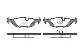 Тормозные колодки задние  БМВ 3/ 5/ 6/ 7/ 8/ Z1 (пр-во ROADHOUSE 2155.00)