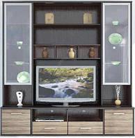 Гербор Амадеус секция под ТВ витрина  2190х2100х505мм венге магия