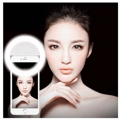 Светодиодное кольцо селфи Selfie Ring Light для телефона и стрима