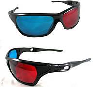 3D стерео очки (анаглифные) профессиональной серии пластик 3Д, фото 1