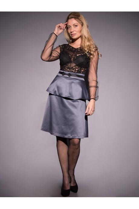 11236247c7c Платье комбинированное из кружевного полотна и плотного атласа. -  Интернет-магазин